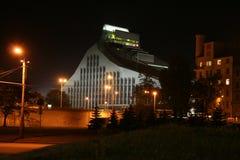 拉脱维亚里加光城堡图书馆 免版税库存照片