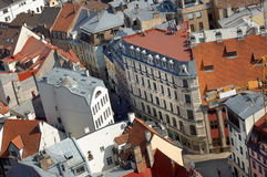 拉脱维亚里加鸟瞰图 免版税库存照片