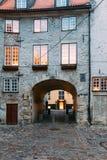 拉脱维亚里加 瑞典门门是一个著名地标 老曲拱 免版税库存图片