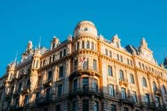 拉脱维亚里加 艺术米哈伊尔设计的Nouveau大厦爱森斯坦 库存照片