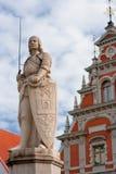 拉脱维亚里加roland雕塑 免版税库存照片