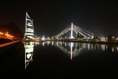 拉脱维亚里加vamt桥梁 库存照片