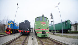 拉脱维亚铁路历史博物馆 免版税库存照片