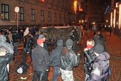 拉脱维亚暴乱 免版税库存图片
