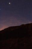 从拉莫利纳滑雪倾斜的夜曲  库存照片