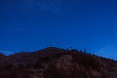 从拉莫利纳滑雪倾斜的夜曲  免版税库存照片