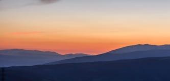 从拉莫利纳滑雪倾斜的日出 库存图片