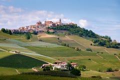 拉莫拉Langhe,山麓,意大利,联合国科教文组织遗产 葡萄栽培 库存照片