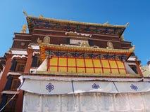 拉萨宫殿potala西藏顶层 图库摄影