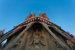 拉萨格拉达Familia教会的外部 图库摄影