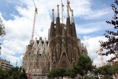 拉萨格拉达Familia, Gaudi设计的大教堂 库存照片