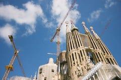 拉萨格拉达Familia Gaudi在巴塞罗那 库存图片