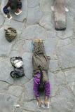 拉萨香客藏语 库存图片