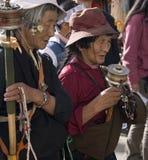 拉萨香客西藏藏语 免版税库存图片