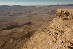 拉蒙火山口, Neqev沙漠,以色列 免版税库存照片