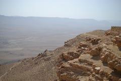 拉蒙火山口Makhtesh拉蒙,拉蒙自然保护,Mitzpe拉蒙,Neqev沙漠,以色列边缘  库存照片