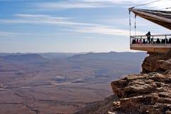 拉蒙火山口Makhtesh拉蒙-以色列 库存图片