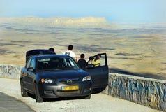 拉蒙火山口Makhtesh拉蒙-以色列 免版税库存照片