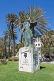 拉蒙Llull雕象 免版税库存照片