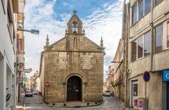 维拉街道的教会Misericordia真正在葡萄牙 免版税图库摄影