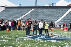 维拉诺瓦, PA - 4月2日:Radnor乡主人在维拉诺瓦大学橄榄球场的复活节彩蛋狩猎2017年4月2日 库存图片