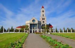 巴拉诺维奇,白俄罗斯- 2015年5月14日:我们的法蒂玛母亲的夫人教会  免版税图库摄影