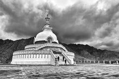 拉达克的,印度桑吉Stupa 免版税库存图片
