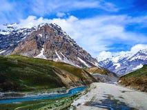 拉达克风景在印度 库存照片