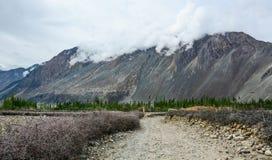 拉达克,印度山风景  免版税库存图片