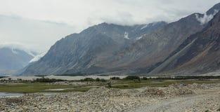 拉达克,印度山风景  图库摄影