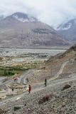 拉达克,印度山风景  库存图片