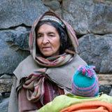 从拉达克,印度的妇女 图库摄影