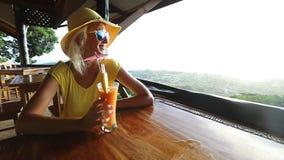 拉迪格岛顶视图鸡尾酒 股票录像