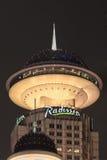 拉迪森旅馆在晚上,上海,中国 免版税库存照片