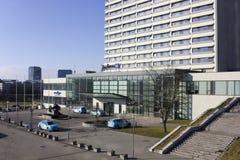 拉迪森蓝色旅馆都市风景 免版税库存照片