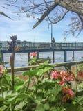 巴拉那河海岸在罗萨里奥 免版税库存图片
