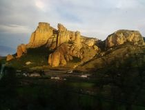 拉里奥哈西班牙峭壁  图库摄影