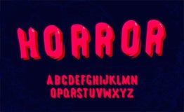 拉长的字体现有量 现代大胆的字母表编辑可能的传染媒介  库存例证