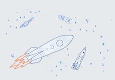 拉长的火箭 免版税库存图片
