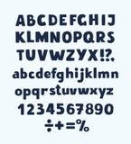 拉长的现有量信函 导航字母表,标点符号,在白色背景的数字 库存图片