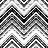 拉长的现有量模式 传染媒介之字形和条纹线 皇族释放例证