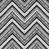 拉长的现有量模式 传染媒介之字形和条纹线 向量例证