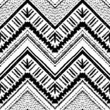 拉长的现有量模式 传染媒介之字形和条纹线 库存例证