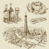 拉长的现有量巴黎 免版税库存图片