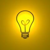 拉长的电灯泡 皇族释放例证