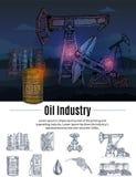 拉长的石油工业构成 免版税库存照片