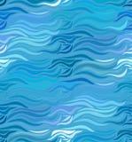 拉长的线传染媒介无缝的波浪背景  库存例证