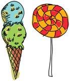 拉长的色的甜点 免版税库存照片