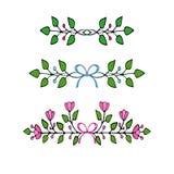 拉长的要素花卉现有量 套花和装饰元素 免版税库存照片