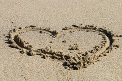 拉长的重点沙子 图库摄影